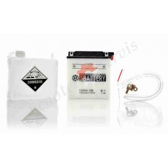 Акумулятор 12N5-3B, 12V 5A, кислотний