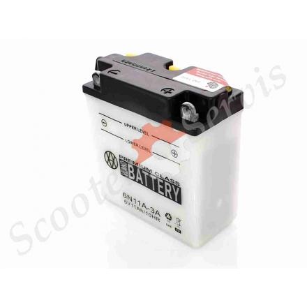 Аккумулятор 6N11A‑3A, 6V 11A, кислотный
