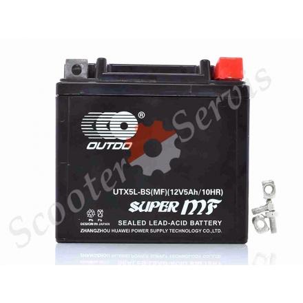 Аккумулятор UTX5L‑BS, 12V 5A, AGM