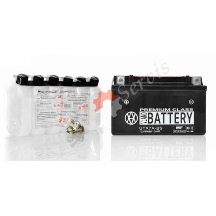 Аккумулятор UTX7A‑BS, 12V 7A, кислотный, черный, большой
