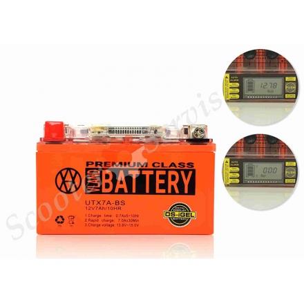 Акумулятор UTX7A-BS, 12V 7A, гелевий, з показником напруги, вольтметром