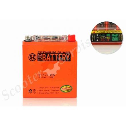 Аккумулятор UTX7L‑BS, гелевый, с индикатором о состоянии батареи