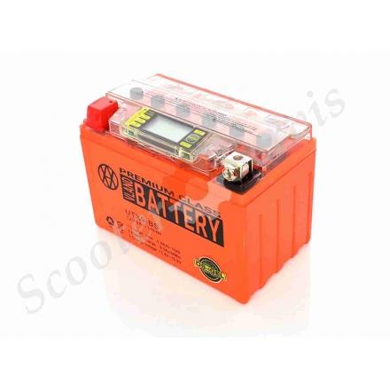 Аккумулятор UTX9‑BS, 12V 9A, гелевы, с индикатором напряжения, вольтметром