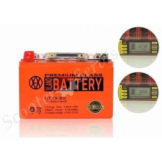 Акумулятор UTX9-BS, 12V 9A, гелеві, з індикатором напруги, вольтметром