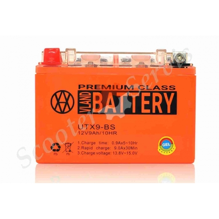 Аккумулятор UTX9‑BS, 12V 9A, гелевый
