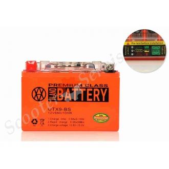 Аккумулятор UTX9‑BS, 12V 9A, гелевый с индикатором о со...