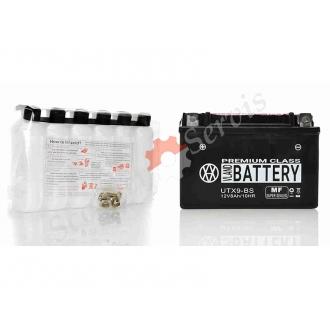 Аккумулятор UTX9‑BS, 12V 9A, кислотный, средних размеров