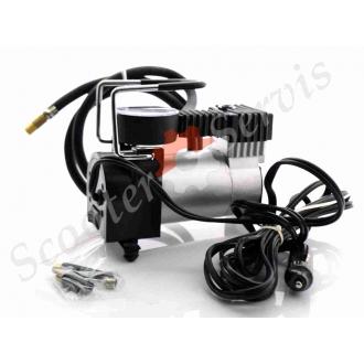 Электро насос, компрессор, автомобильный для накачки колес, 2V, 27л/мин, 10атм