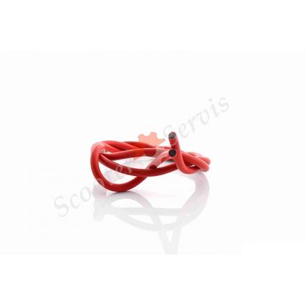 Ізоляційний провід, силіконовий, червоний, 1000мм