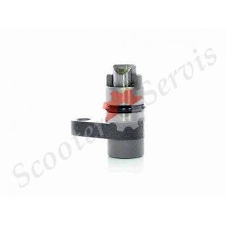 Клапан сброса давления масла в двигателе Honda CG125/15...
