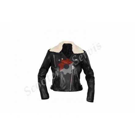 Шкіряна куртка, косуха, жіноча, розмір S