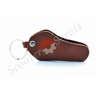 Шкіряний чохол для ключів Honda, Хонда, коричневий