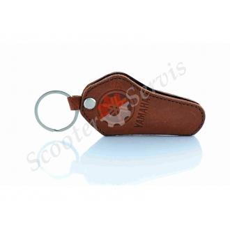 Шкіряний чохол для ключів Yamaha, Ямаха, коричневий