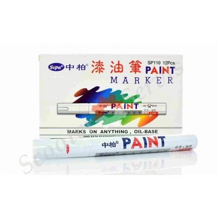 Масляний маркер для покришок, білий, срібло, жовтий, синій, зелений