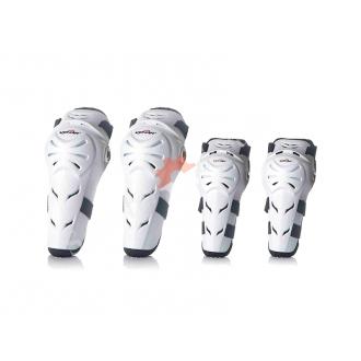 Мото-экипировка, защита наколенники и налокотники, белый пластик VEMAR