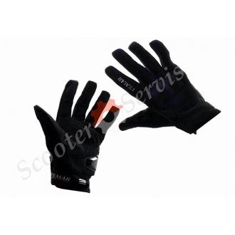 Мото-рукавички, XXL, чорні, з сенсорними пальцями, VEMAR