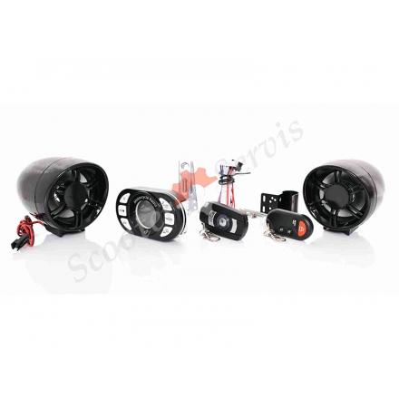 Мультимедийная HI-FI система сигнализации, MP3, Bluetooth, FM, USB, SD, чёрная