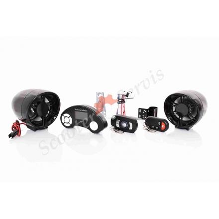 Мультимедійна система з сигналізацією, MP3, Bluetooth, FM, USB, SD
