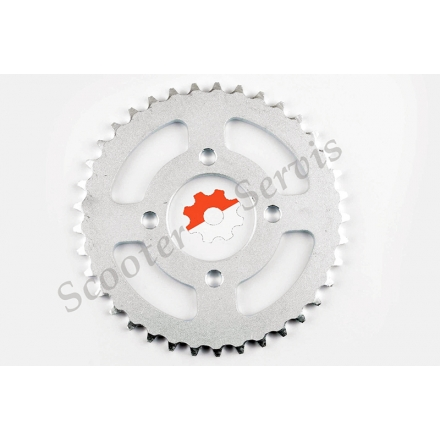 Зірка трансмісії (задня), квадроцикли, мото, ATV Pit Bike, 420-38T (на 4 болта)